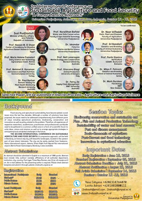 email unpad 2nd international conference on sustainable agriculture