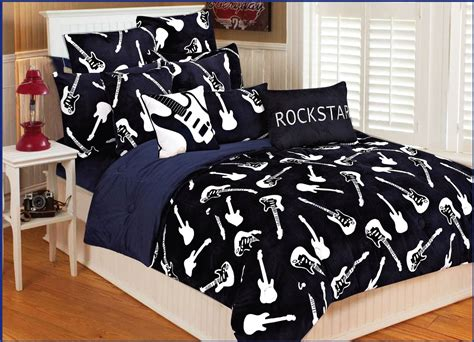 full size bedding for boy boys comforter sets ideas left handed guitarists full size