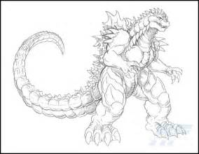 godzilla coloring pages a detailed sketch of almighty godzilla coloring page
