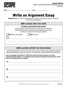 Debate Essay by Using The Debate Essay Kit To Practice Argument Writing Scope Ideabook