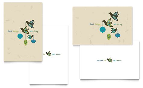 template for greeting card word glad tidings greeting card template word publisher