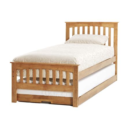 single bed with guest bed serene amelia oak 3ft single wooden guest bed