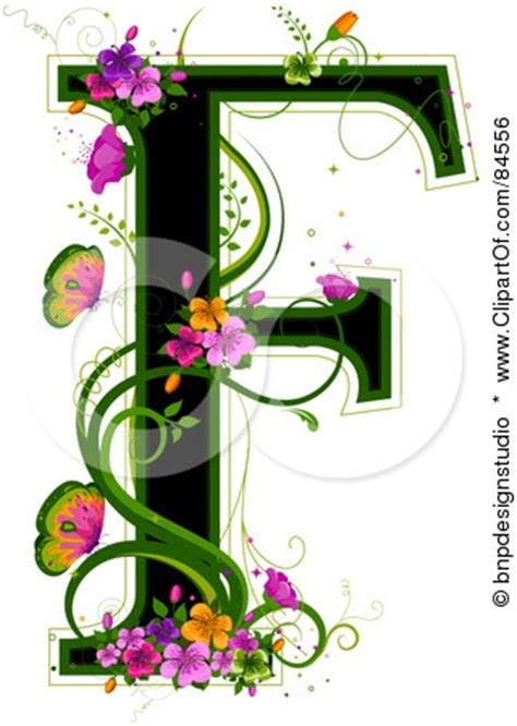 clipart fancy letter f collection