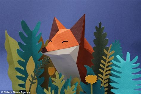Origami Forest Animals - argentinian origami experts create range of