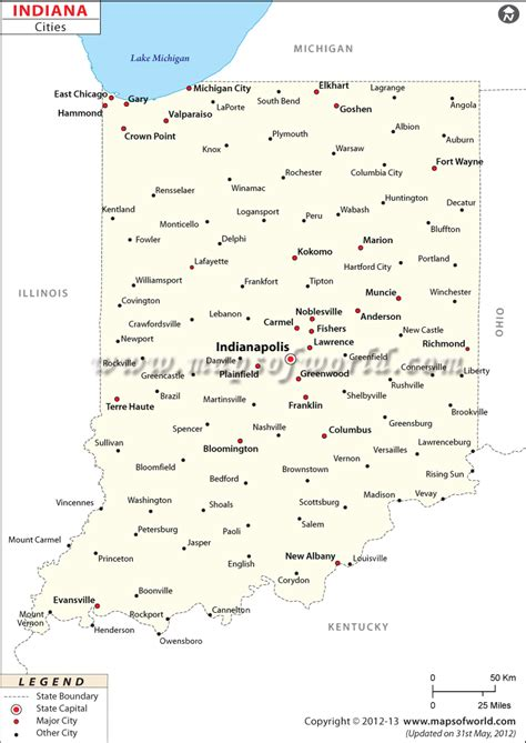 map of indiana cities and towns cities in indiana map of indiana cities