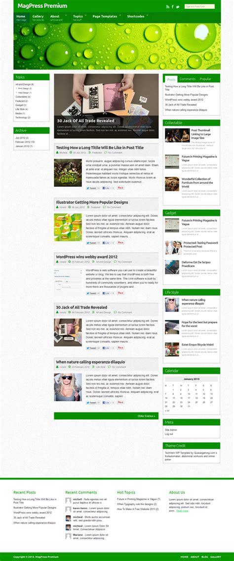techvern wordpress theme responsive html5 css3
