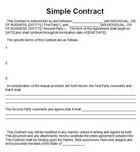simple contract agreement template simple contract template 7 free pdf doc