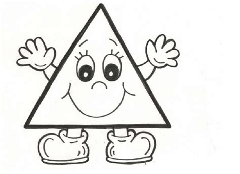 triangle coloring pages for toddlers triangle coloring page 1 kleuren en vormen pinterest