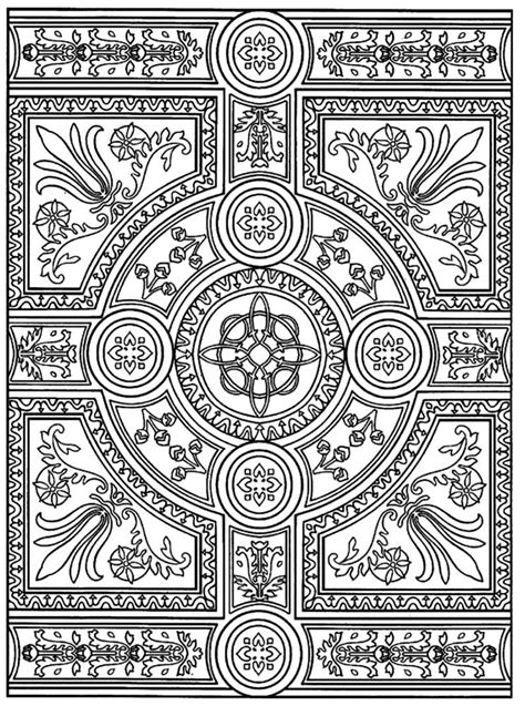 intricate parquet patterns difficult coloring pages