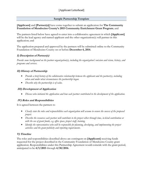 template for memorandum of understanding in business agreement of understanding template memorandum of
