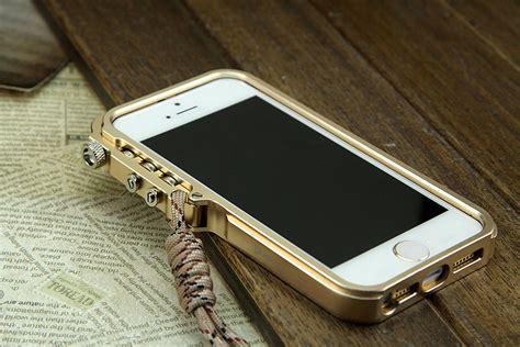 Bumper Iphone 5 Se 5s Alumunium Arm Trigger Hitam T1910 1 simon mechanical arm trigger aluminum alloy metal bumper