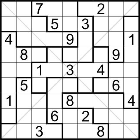 printable diagonal sudoku sudoku mania irregular diagonal n1