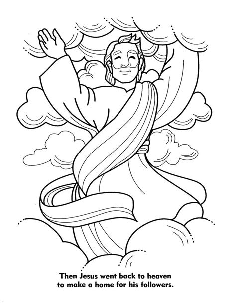 coloring pages jesus going to heaven 20 best jesus second coming images on sunday