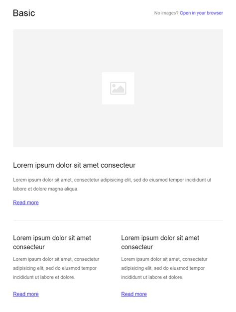99 Free Responsive Html Email Templates To Grab In 2018 Basic Html Email Template