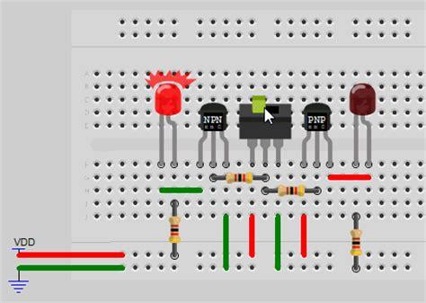 transistor lifier breadboard transistor lifier breadboard 28 images v i r t u a l b r e a d b o a r d transistor and