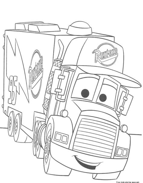 coloring pages of cars 2 the cars 2 mack truck car carrier coloring pages for kidsfree