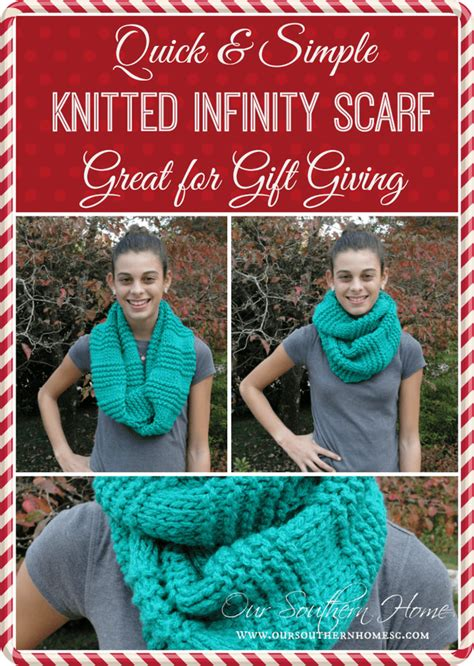 fast knitting easy knitted infinity scarf our southern home