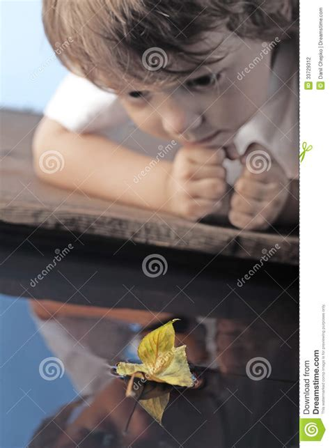 leaf boys model boy play with leaf ship stock photography image 33729312