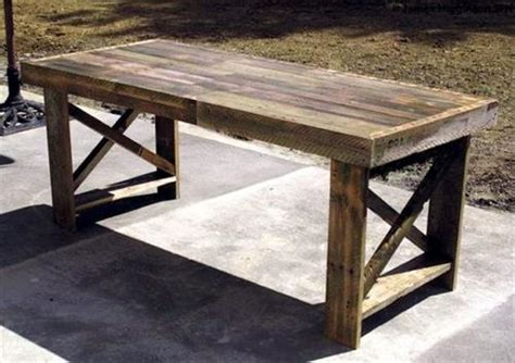 Dining Table Made From Pallets Different Pallet Table Designs Pallets Designs