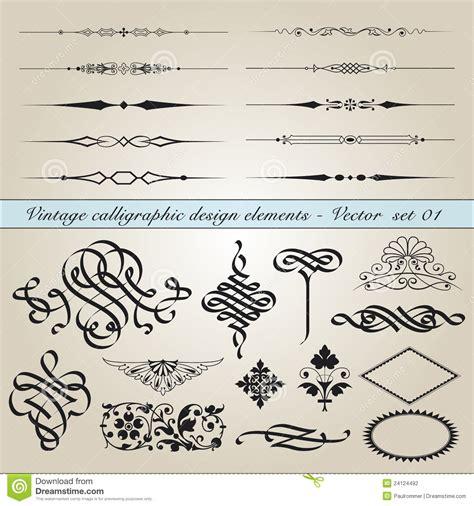 calligraphic vintage design elements vector illustration vintage calligraphic design elements stock photography