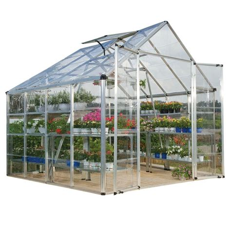 palram snap and grow 8 ft x 8 ft silver polycarbonate