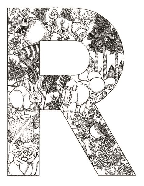 coloring pages animals alphabet coloring pages animal plant abc alphabet r