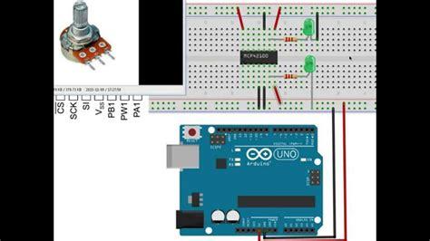 arduino tutorial on youtube mcp42100 digital potentiometer with arduino tutorial