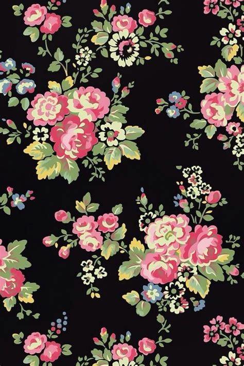 flower pattern on black background black and pink flower wallpapers wallpaperpulse images