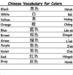 colors in mandarin vocabulary words for colors learn