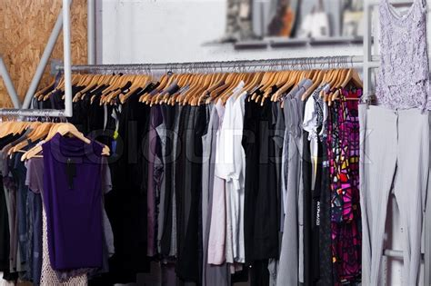 clothes for sale luxury fashion clothes in display for sale in a retail shop stock photo colourbox