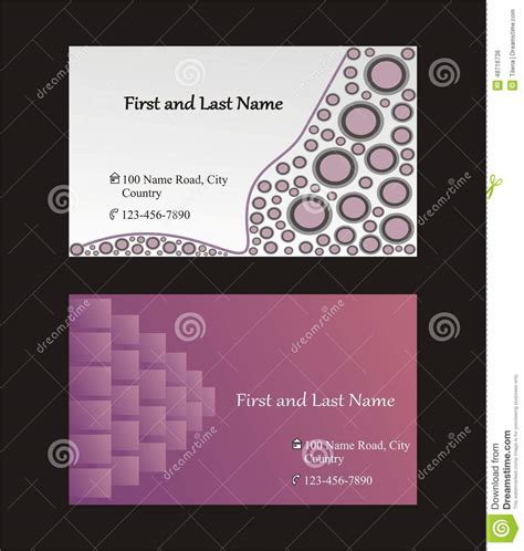 single business card template single sided business cards template stock vector image