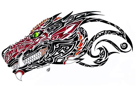 dragon head tattoo dragonhead design by redwolfakasora on deviantart