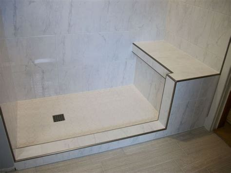 metal shower bench carrara white ceramic tile shower n koehn tile el co tx