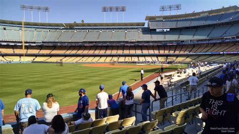 dodger stadium section  rateyourseatscom