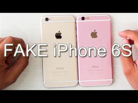 fake iphone 6s  how to identify? youtube