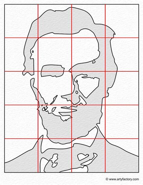 Monochromatic Self Portrait Template Pop Portrait Abraham Lincoln