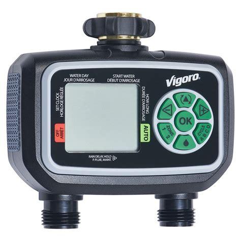 vigoro advanced  zone electronic water timer  home