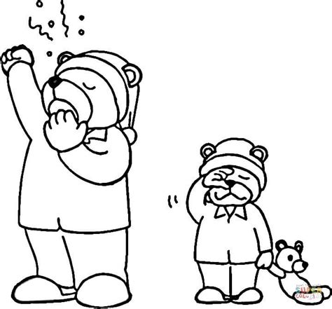 hibernating bear coloring page free printable coloring pages