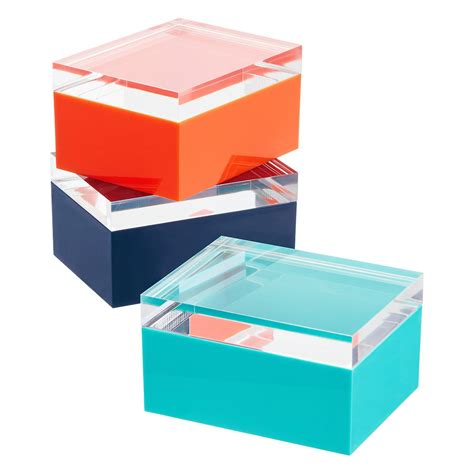 acrylic lid boxes the container store