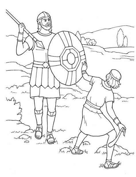 imagenes religiosas para colorear free david y goliat coloring pages