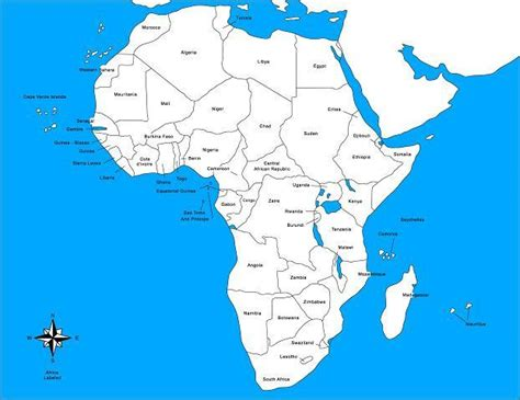 africa labeled map africa map