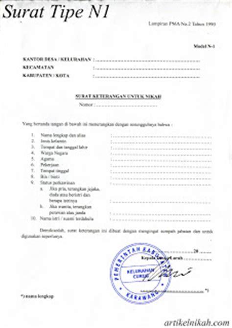 surat berkas yang dibutuhkan dalam persiapan nikah