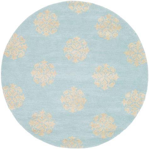 Cotton Light Lu Hias Aqua White Yellow safavieh soho turquoise yellow 8 ft x 8 ft area rug soh724a 8r the home depot