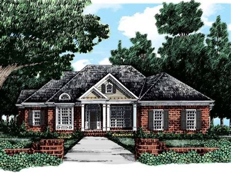 Double Front Porch House Plans Colonial House Plan With 2568 Square Feet And 4 Bedrooms S