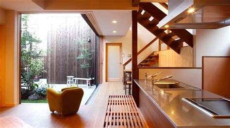 zen kitchen and courtyard interior design ideas