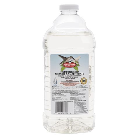 perky pet 64 fl oz clear hummingbird nectar concentrate