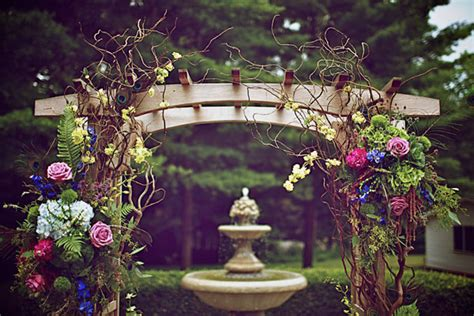 Enchanted Garden Decor Wedding Arch Ideas