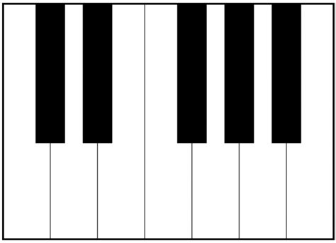 diagram of a piano keyboard diagram of a clarinet