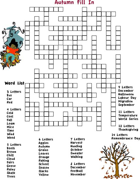 printable october puzzles adult word searches fall fill in crossword puzzle print