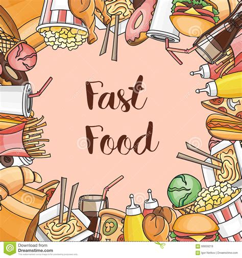 fast food doodle vector doodle vector fast food stock vector image 66659219